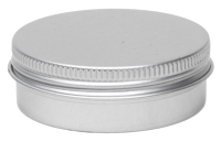 Aluminium tin ± 35 ml. round with screwlid and EPE liner