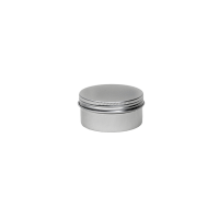 Aluminium tin ± 80 ml. round with screwlid and EPE liner