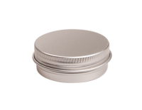 Aluminium tin ± 10 ml. round with screwlid and EPE liner