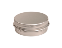 Aluminium tin ± 15 ml. round with screwlid and EPE liner