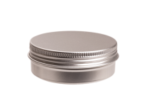 Aluminium tin ± 30 ml. round with screwlid and EPE liner