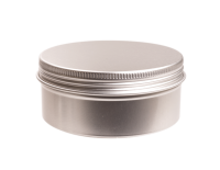 Aluminium tin ± 60 ml. round with screwlid and EPE liner