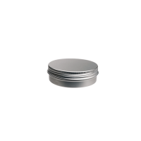 Aluminium tin ± 100 ml. round with screwlid and EPE liner