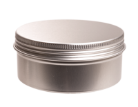 Aluminium tin 150 ml. round with screwlid and EPE liner
