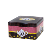 Tea tin with 4 compartments