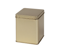 Square tin 100 g with hinged lid