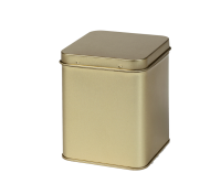 Square tin 200 g with hinged lid