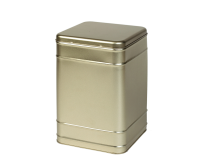 Square tin 2 kg with hinged lid