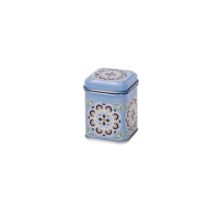 Tea tin 25 g with slip lid, embossed