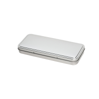Rectangular tin - pencil tin with hinged lid