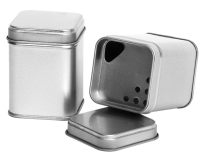 Square tin - spice tin with inner lid