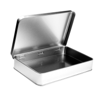 Rectangular tin with hinged lid