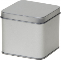 Square tin with slip lid