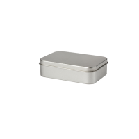 Rectangular tin - pill box with slip lid, large