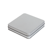 Square tin (flat) with hinged lid