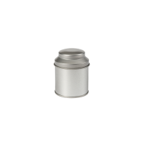Round tin with domed lid, small