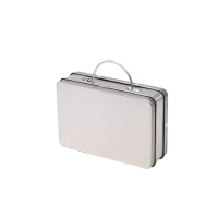 Rectangular tin suitcase