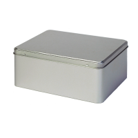 Rectangular storage tin