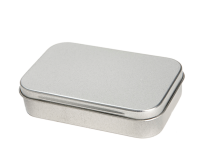 Rectangular tin - pill box with hinged lid