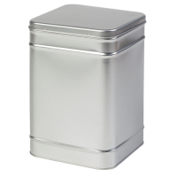 Square tin 1 kg with hinged lid
