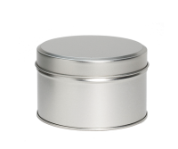 Round tin with slip lid
