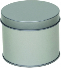 Round tin with sliplid, small