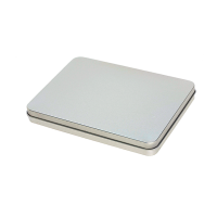 Rectangular tin A5 with hinged lid