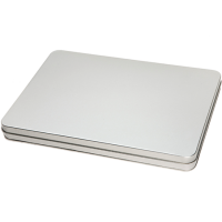 Rectangular tin A4 with hinged lid