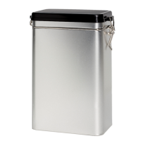 Rectangular tin 500 g with clip closure