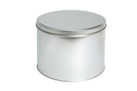 Round storage tin, large
