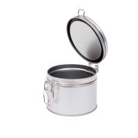 Round tin with clip closure small