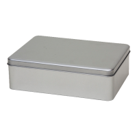 Rectangular tin A5 with sliplid, medium