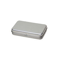 Rectangular tin - pastille tin with hinged lid