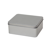 Rectangular tin  with slip lid, medium