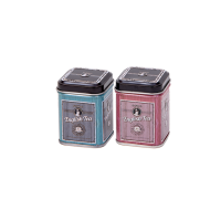 Square tin 25 g with slip lid, embossed (assorted)