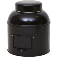 Round tin - storage tin, black