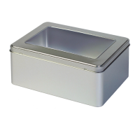 Rectangular tin with window