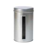 Round tin 500 g with window