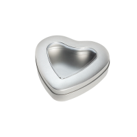 Heart-shaped tin with window