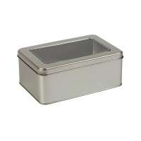 Rectangular cake tin with window