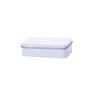 Square tin - pill box with slip lid, large