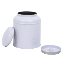 Round tin with domed lid and inner lid, large