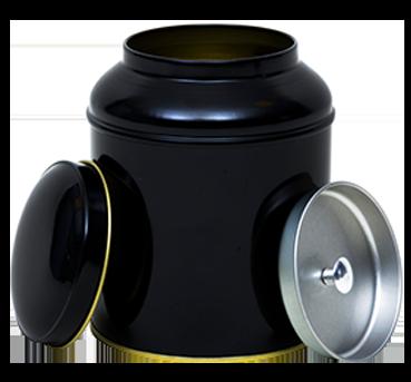 Black tins